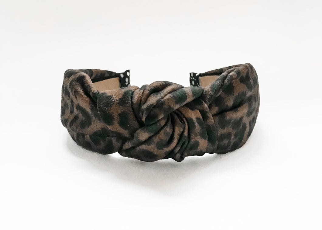 Leopard Suede Knotted Headband