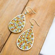 Multi-Colored Crystal Teardrop Earrings