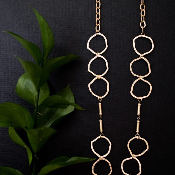 Organic Link Gold Necklace