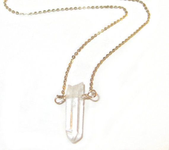 Dainty Quartz Drop Necklace