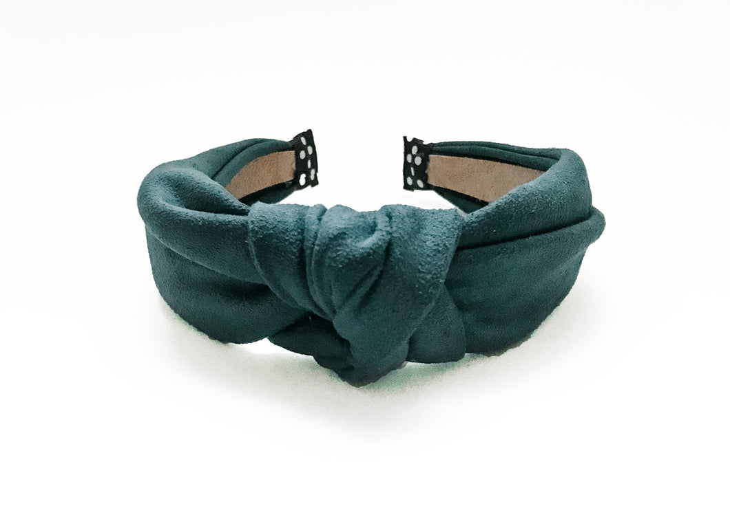 Teal Suede Knotted Headband