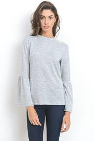 Bell Sleeve Knit with Back Tie