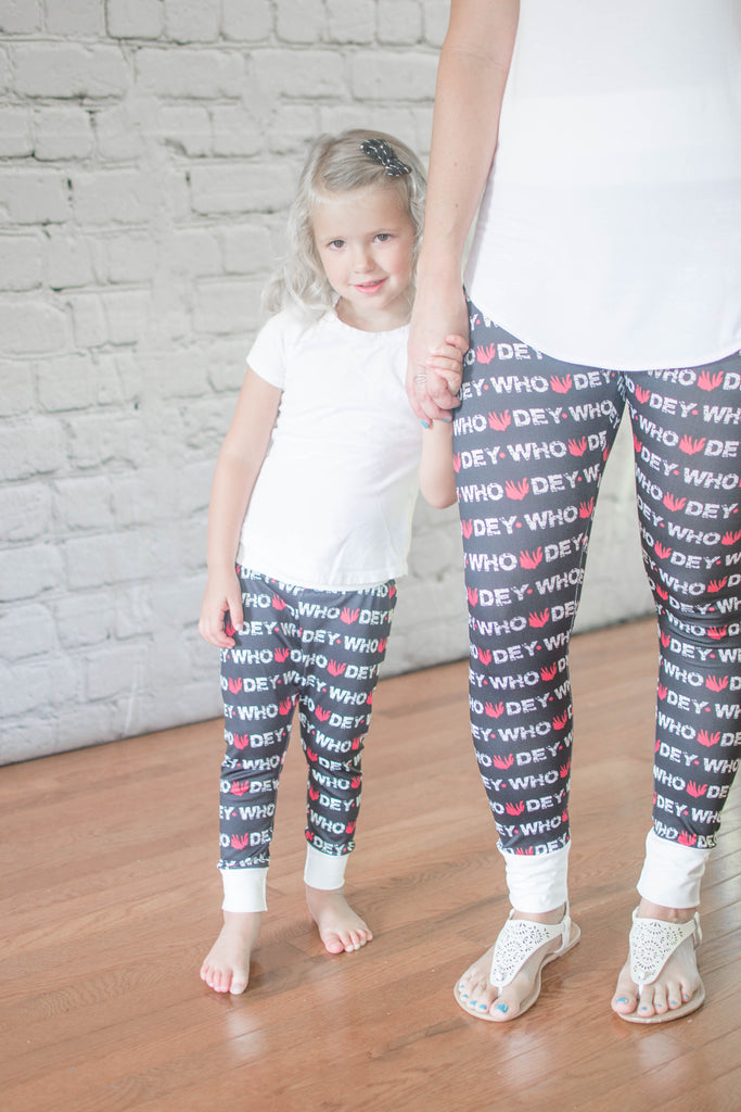 *NEW* Who Dey Leggings - Mommy & Me - All Sizes
