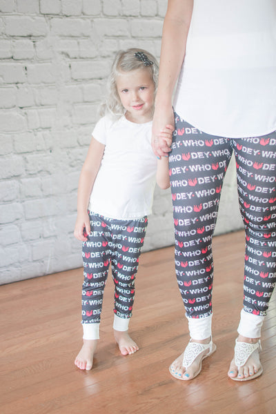 Who Dey Leggings - Mommy & Me - All Sizes