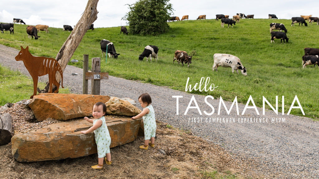 Leia Lauren goes to Tasmania - home of Bellamy's Organic!