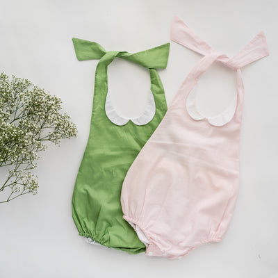 PureCute Collared Halter Playsuit