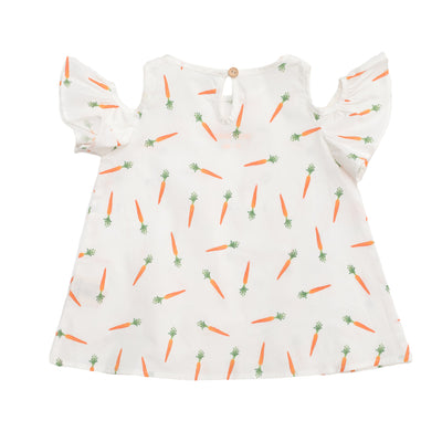 Carrot Hanging Sleeve Dress