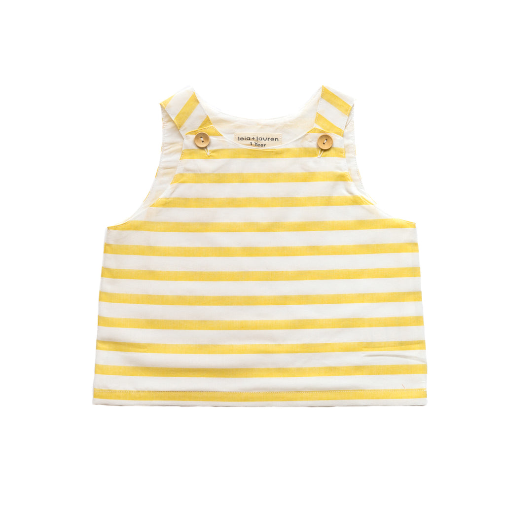 Stripe Pinafore Top