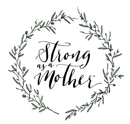 Strong As A Mother - Floral Grey T-Shirt