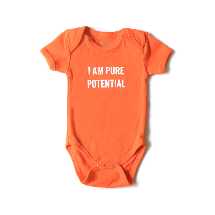 I Am Pure Potential Baby Onesie - Orange