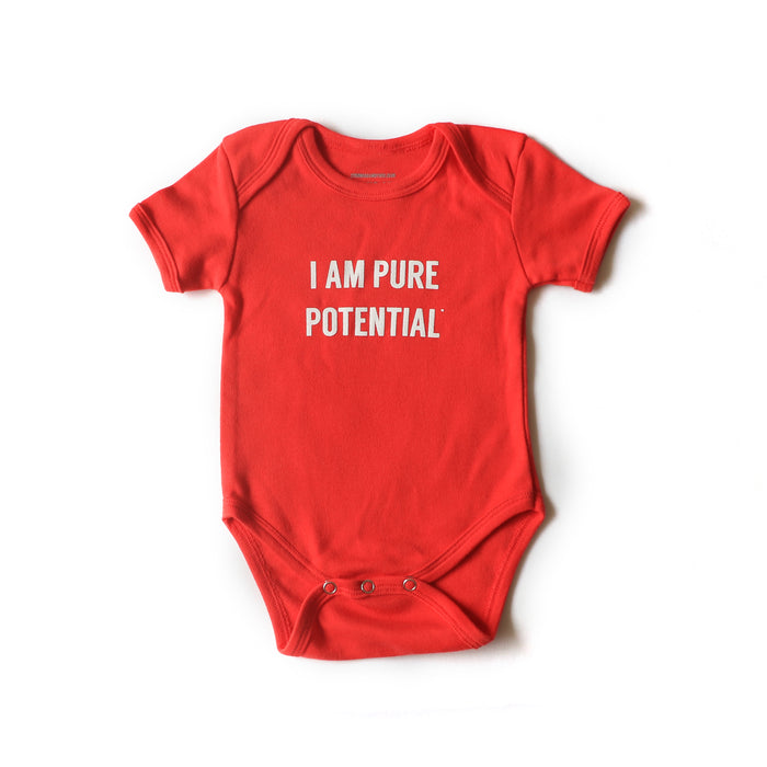 I Am Pure Potential Baby Onesie - Red