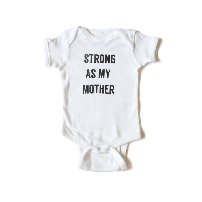 Strong As My Mother Baby onesie - white