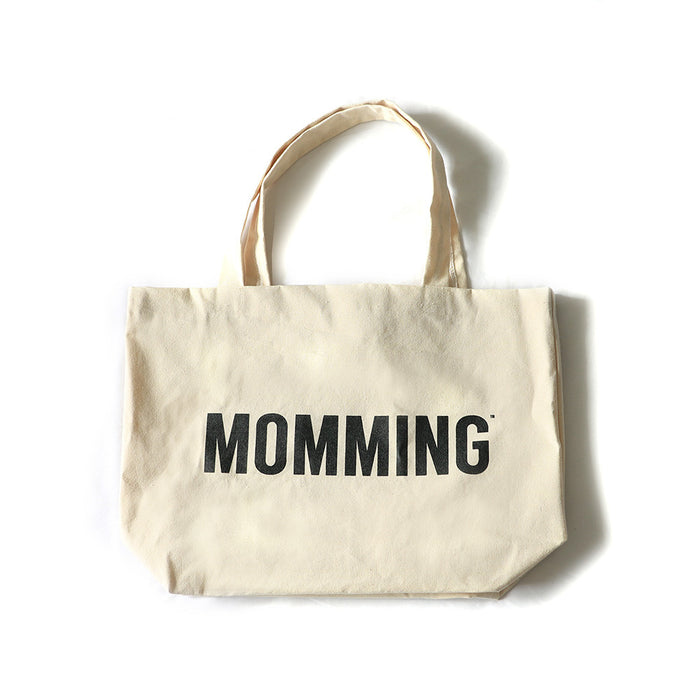 MOMMING Beige Bag (with black text)