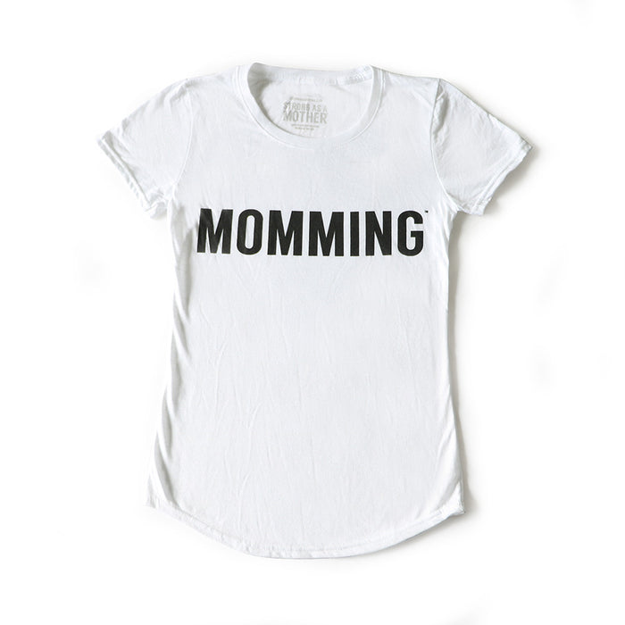 MOMMING T-Shirt - White / Black Text