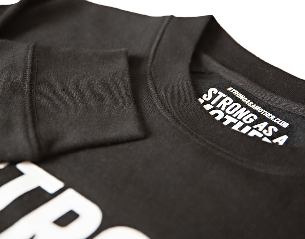 BRAND NEW TEXT Crewneck Sweatshirt - White / Black