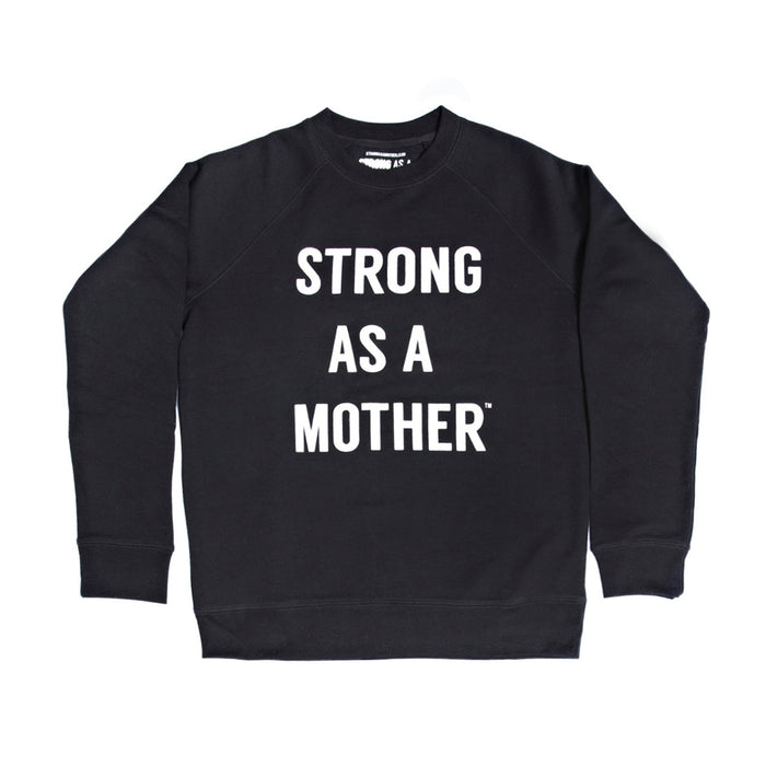 TEXT Women's Crew Neck Sweatshirt - White / Black