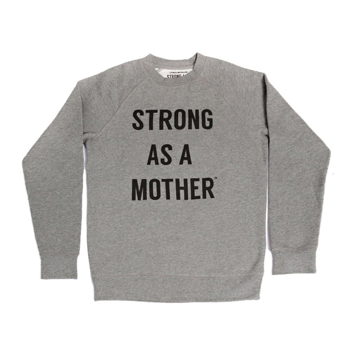 TEXT Women's Crew Neck Sweatshirt - Grey / Black