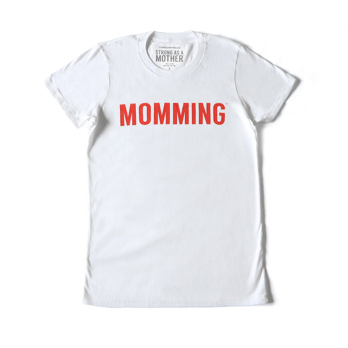 MOMMING Women's T-Shirt - White / Red Text - LIMITED EDITION