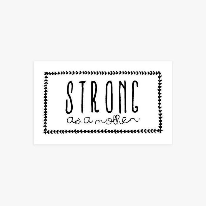 Strong as a Mother - Scallop - Sticker