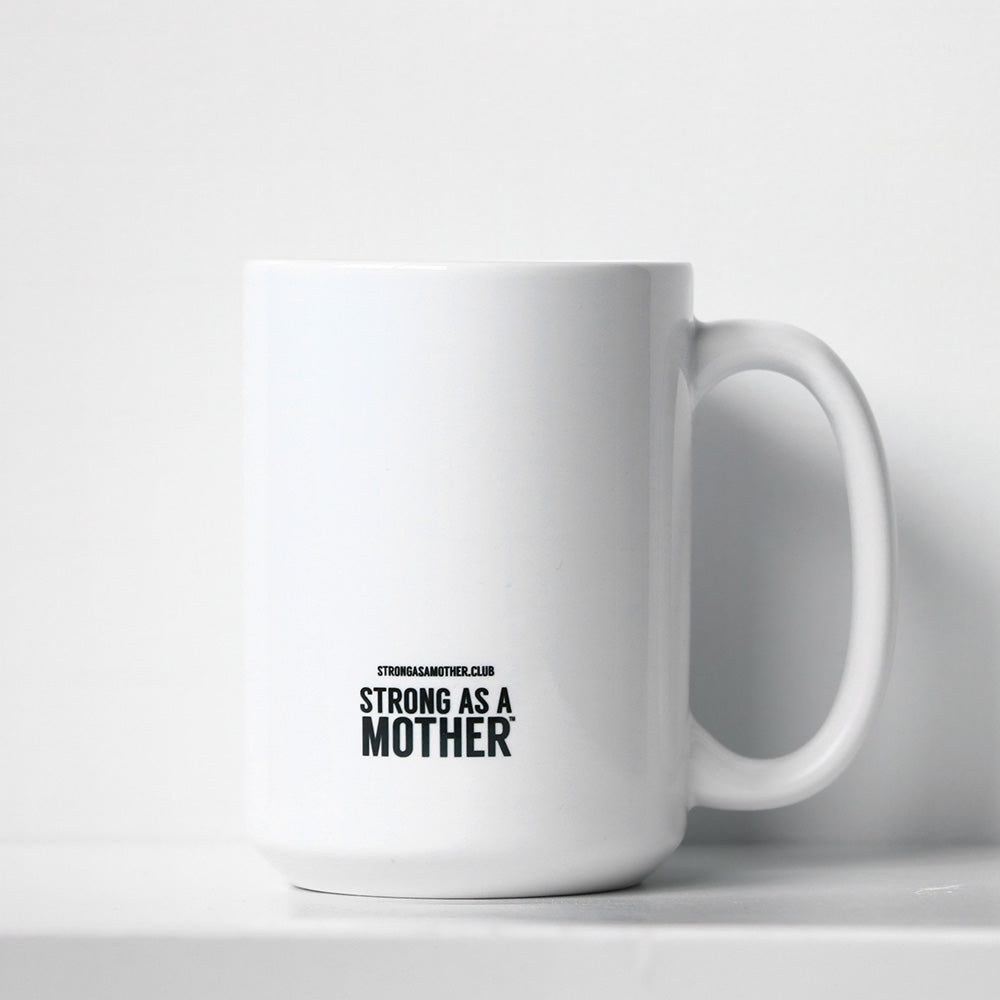 Strong as a Mother Large Mug - Rainbow