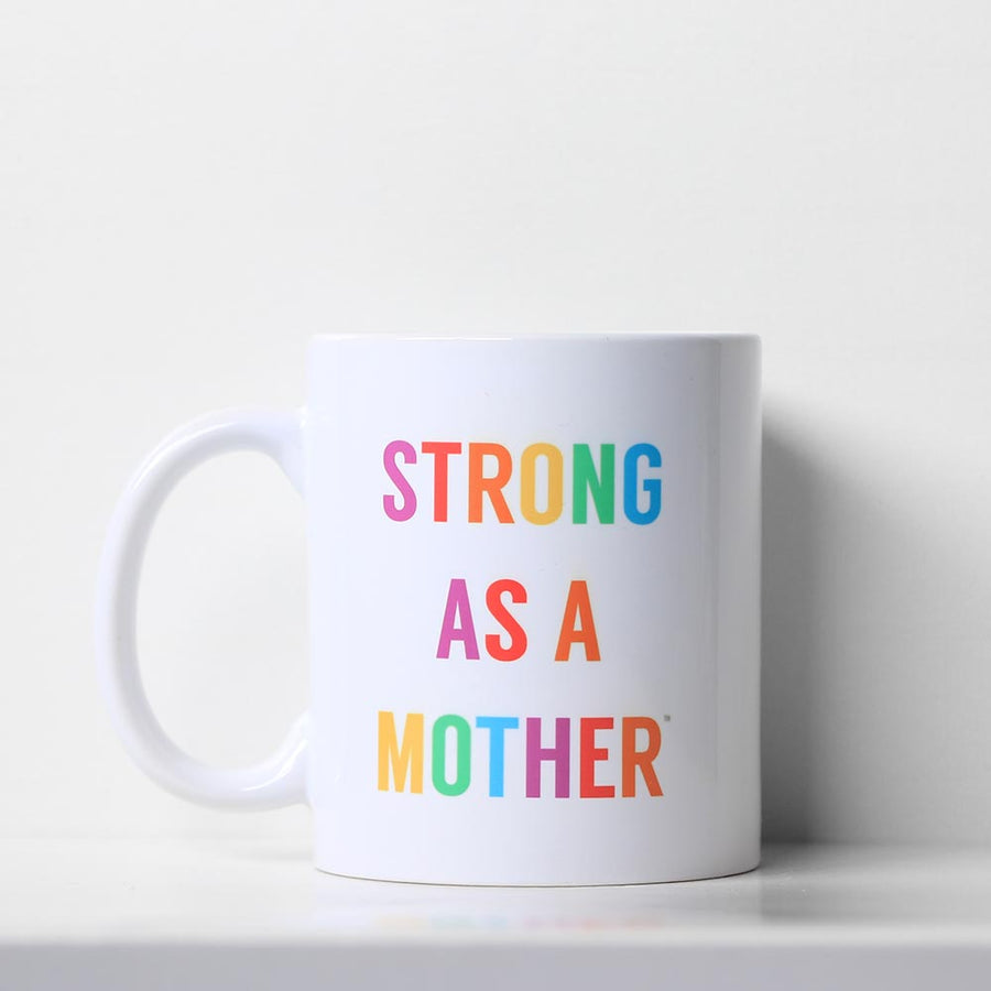 Strong as a Mother Small Mug - Rainbow