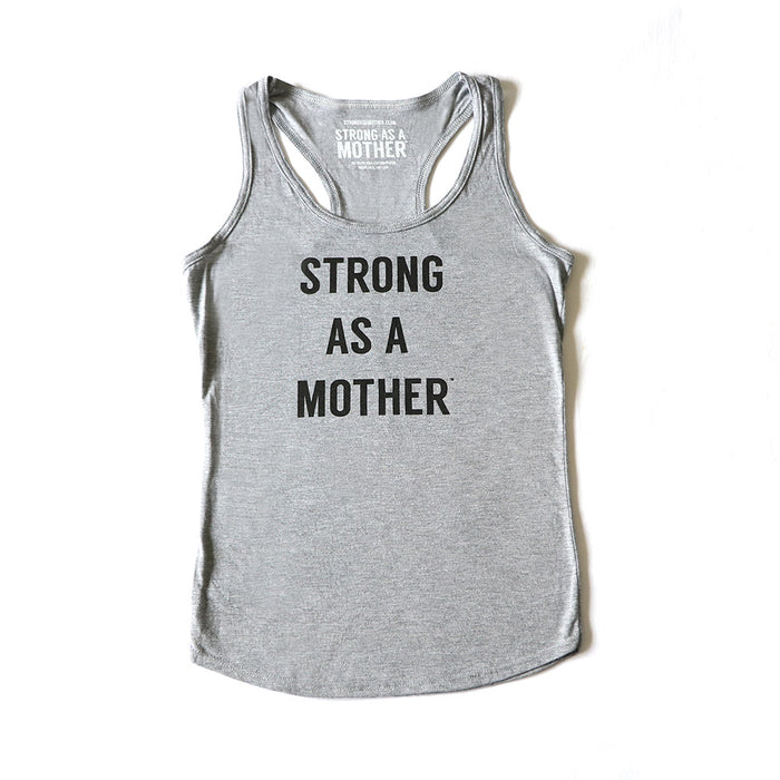 TEXT Women's Tank Top - Light Grey / Black Smaller Text - LIMITED EDITION