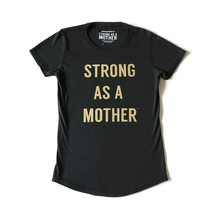 TEXT Women's T-Shirt - Black / Gold Glitter - LIMITED EDITION
