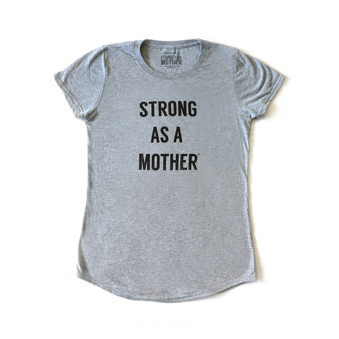 TEXT Women's T-Shirt - Light Grey / Black Smaller Text - LIMITED EDITION