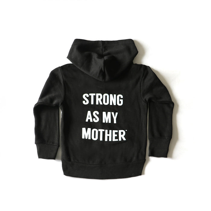 Strong As My Mother Toddler Zip-Up Hoodie
