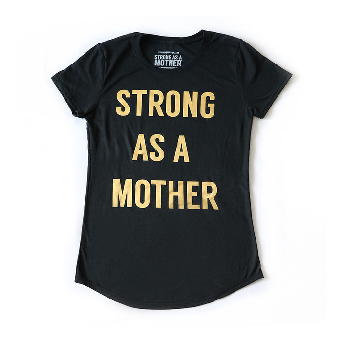 TEXT Women's T-Shirt - Black / Gold Text