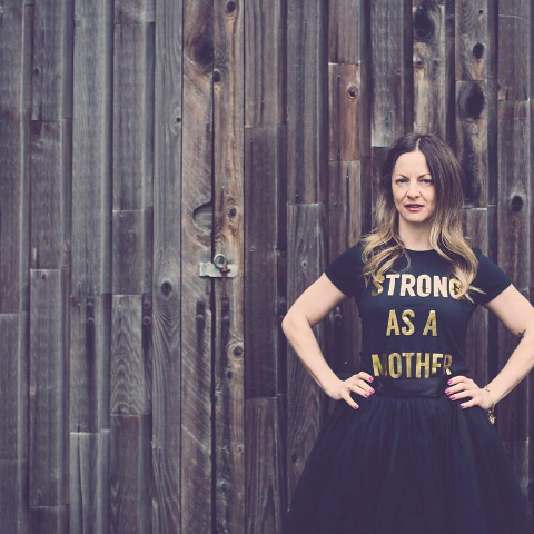 Strong as a Mother T-shirt - Black & Gold