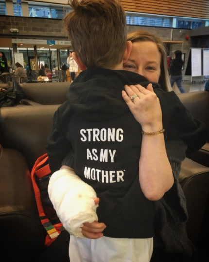 Strong As My Mother Youth Zip-Up Hoodie