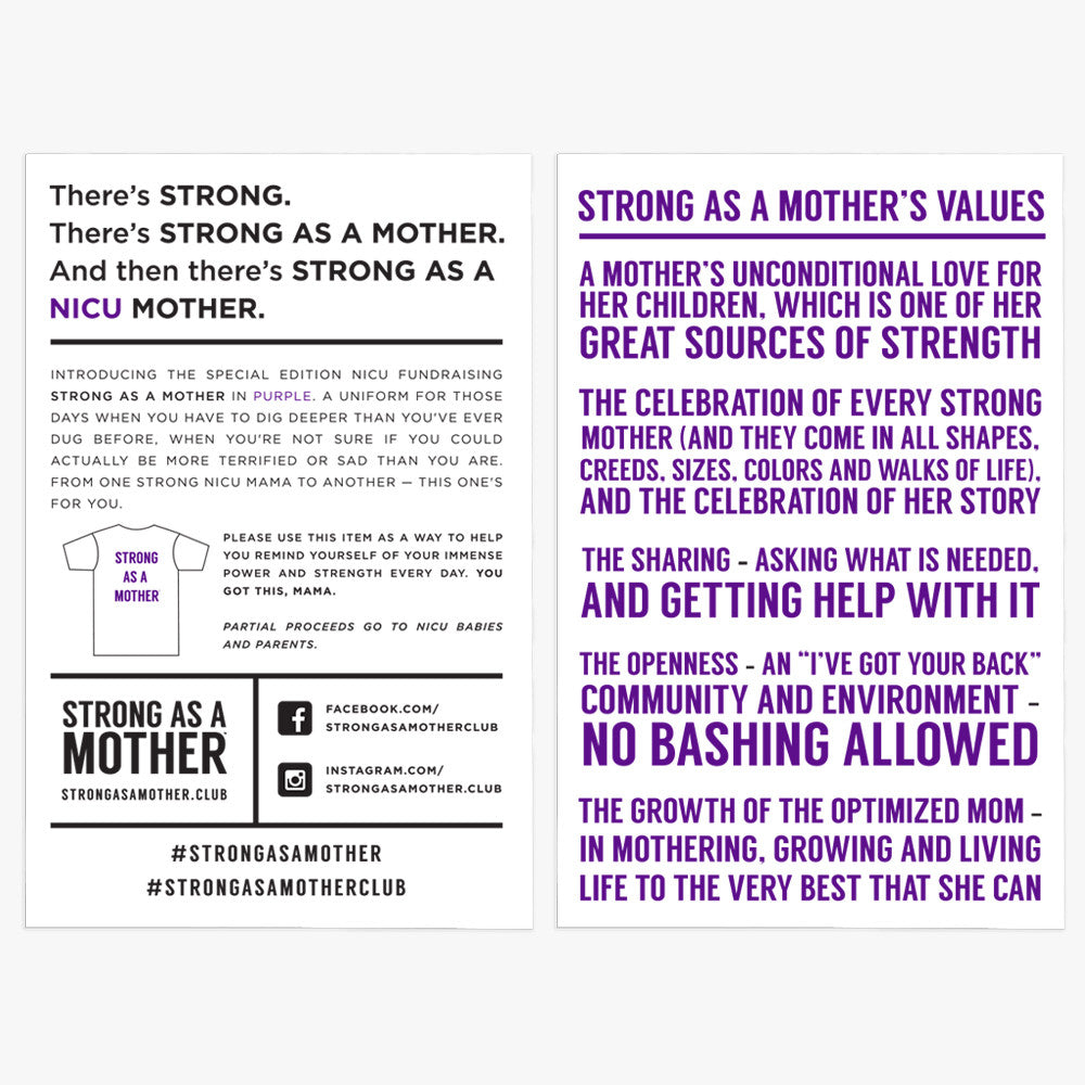 Strong as a Mother - NICU Purple T-Shirt