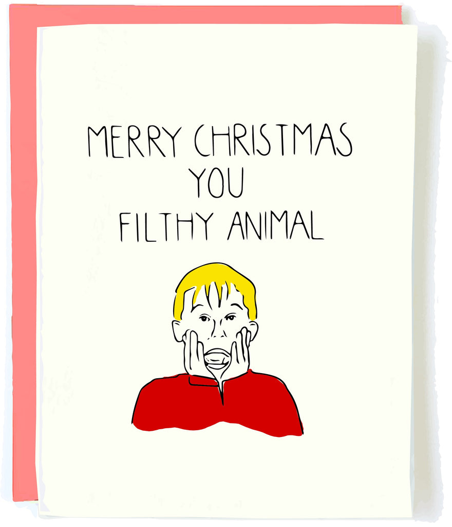 Funny Christmas Card by Pop and Paper