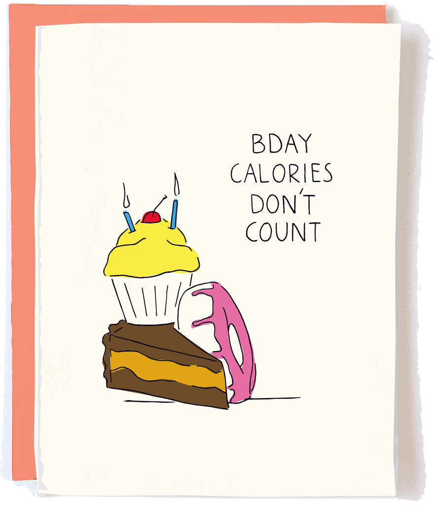 Bday Calories Card by Pop + Papaer