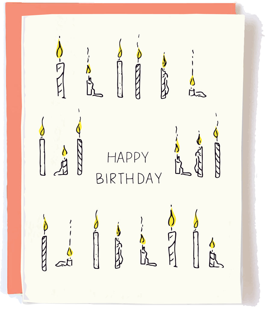 Birthday Candle Card by Pop + Paper