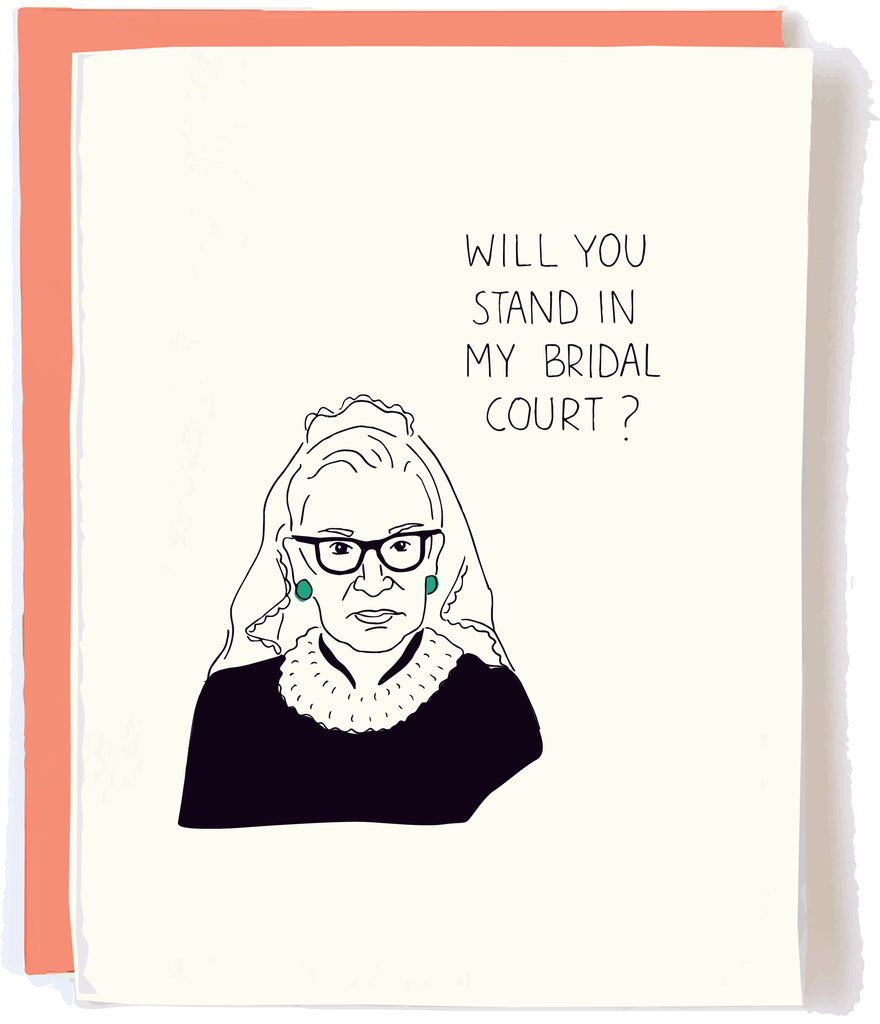 RBG Wedding Card by Pop + Paper