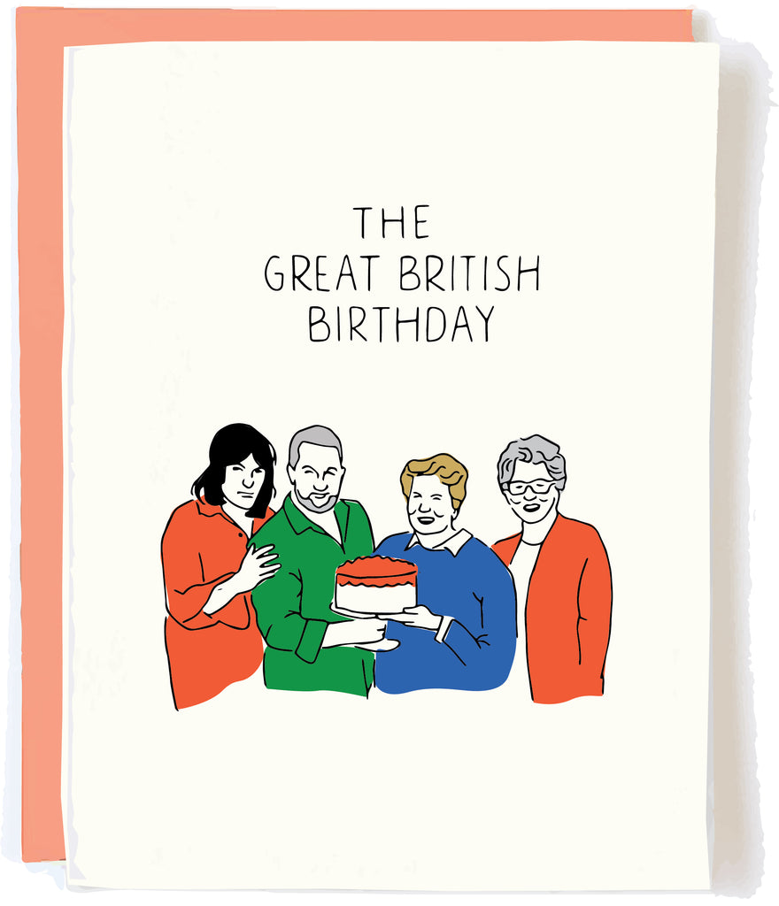 Great British Birthday Card by Pop and Paper