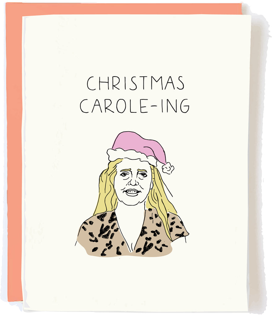 Tiger King Christmas Card Carole Baskins by Pop and Paper