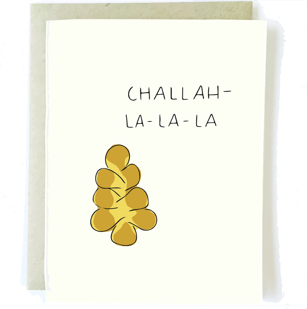 Happy Hanukkah Chanukah Card by Chalkscribe