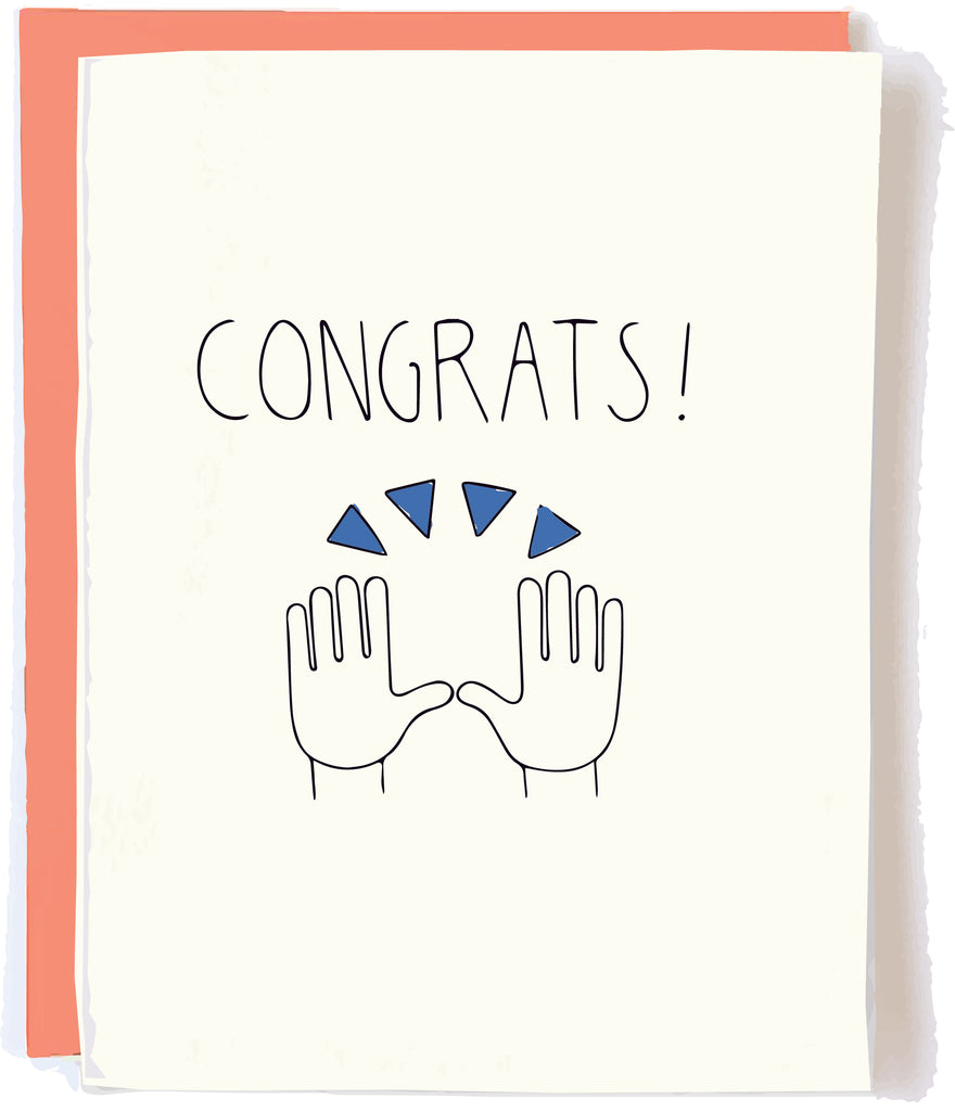 Congrats Card by Pop + Paper