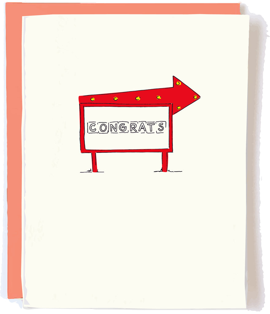 Congrats Sign Card by Pop + Paper