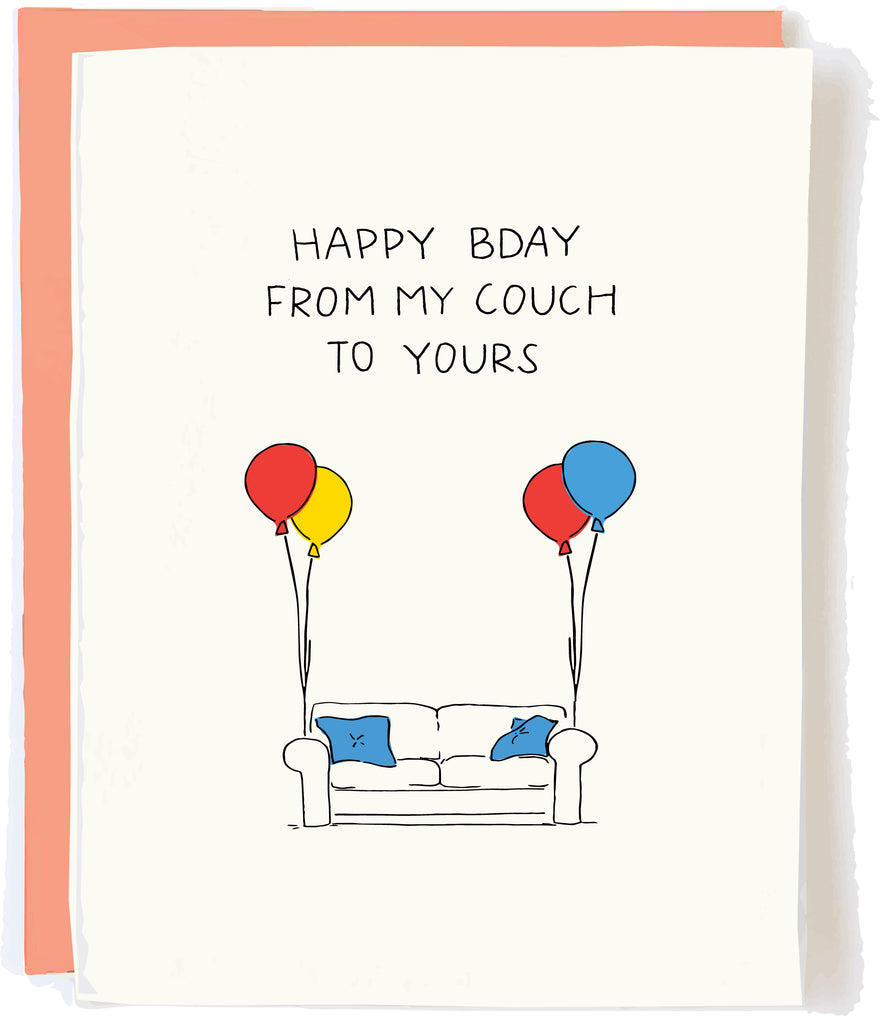 Social Distancing Birthday Card