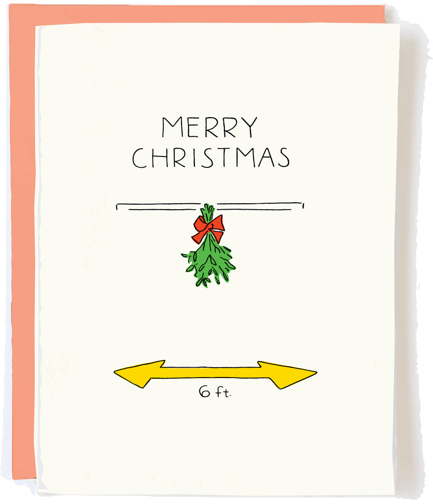 Social Distancing Christmas Card by Pop and Paper