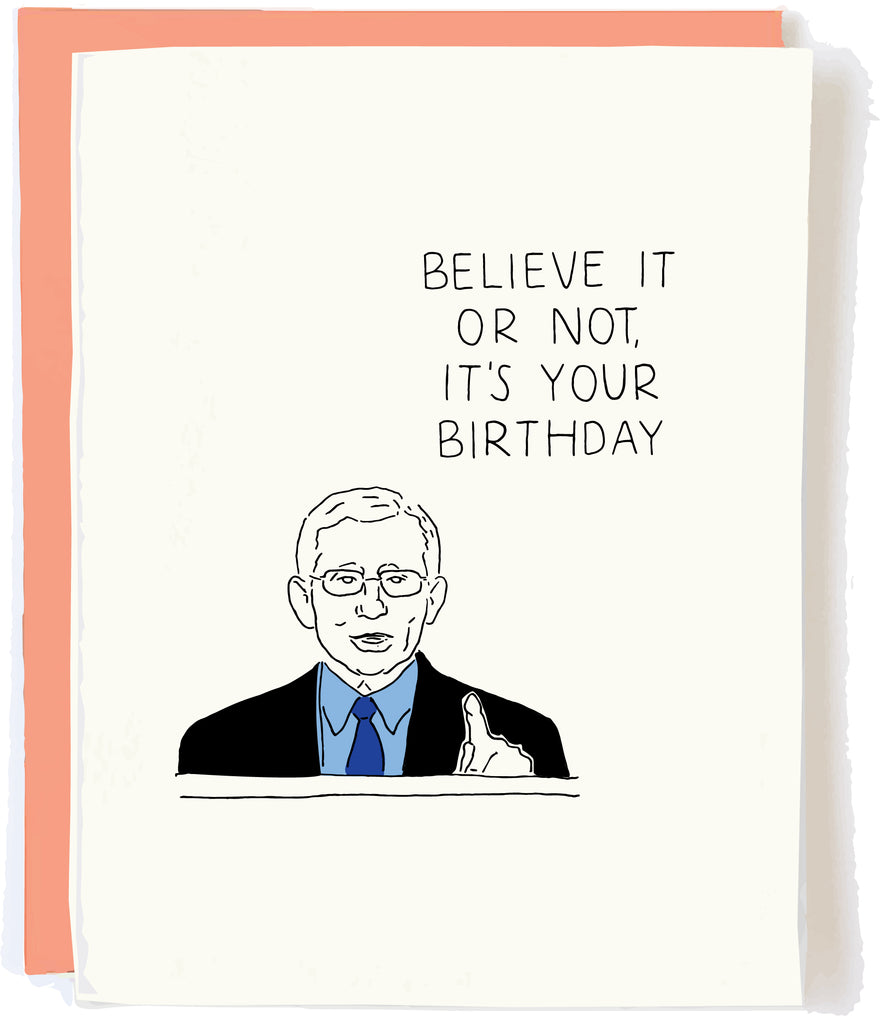 Dr. Fauci Birthday Card by Pop and Paper Pop + Paper