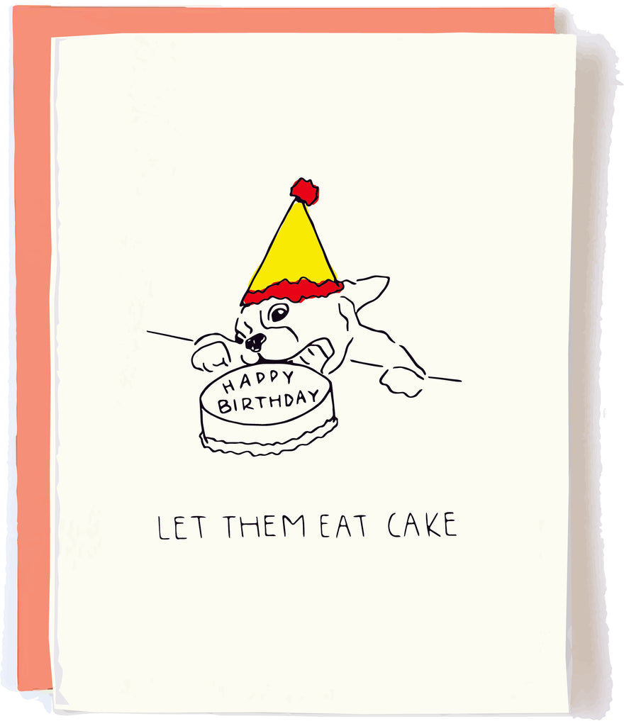 Eat Cake Frenchie Birthday Card by Pop + Paper