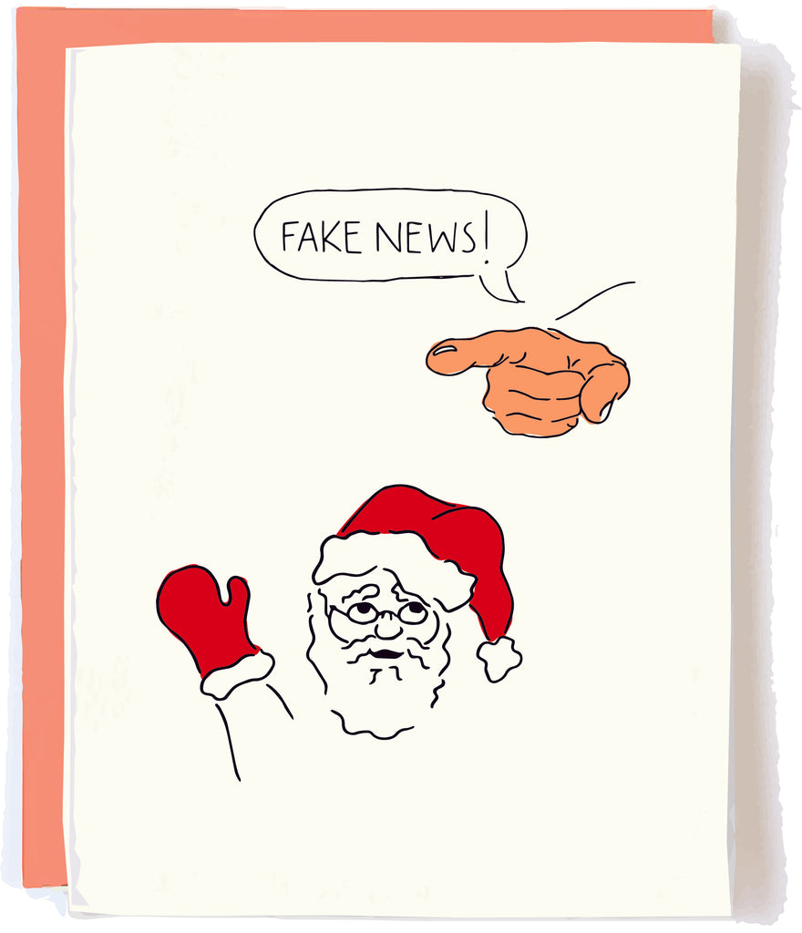 Pop and Paper Fake News Christmas Card