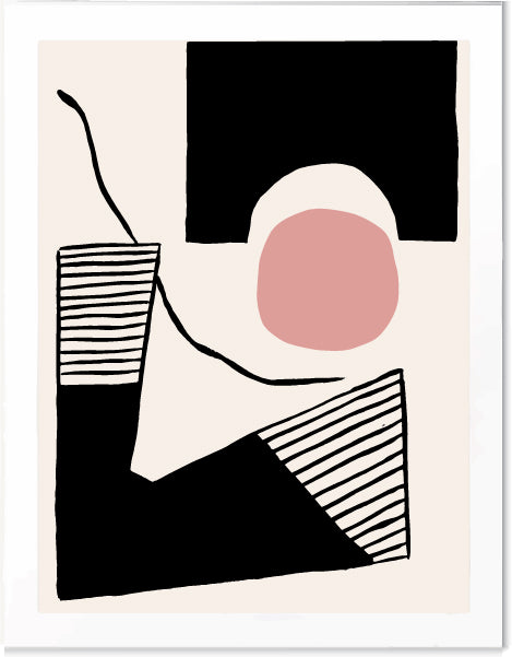 Minimal Art Deco Print by Pop and Paper