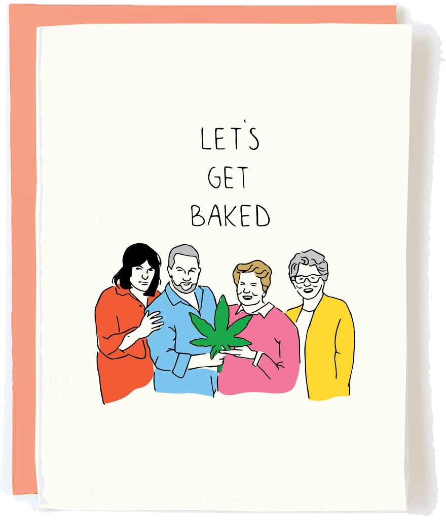 Funny Stoner Birthday Card British Baking by Pop and Paper