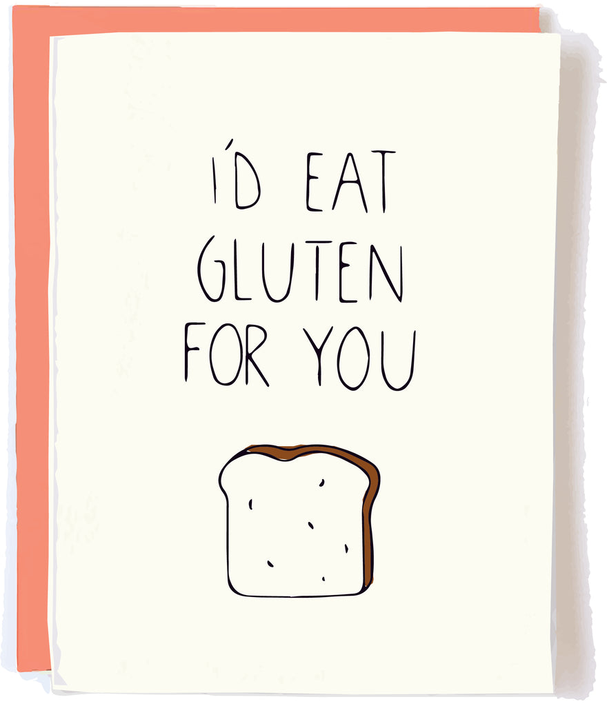 Pop and Paper Gluten Greeting Card